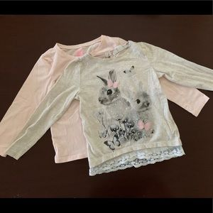 H&M girls jersey shirts size 2-4 new condition